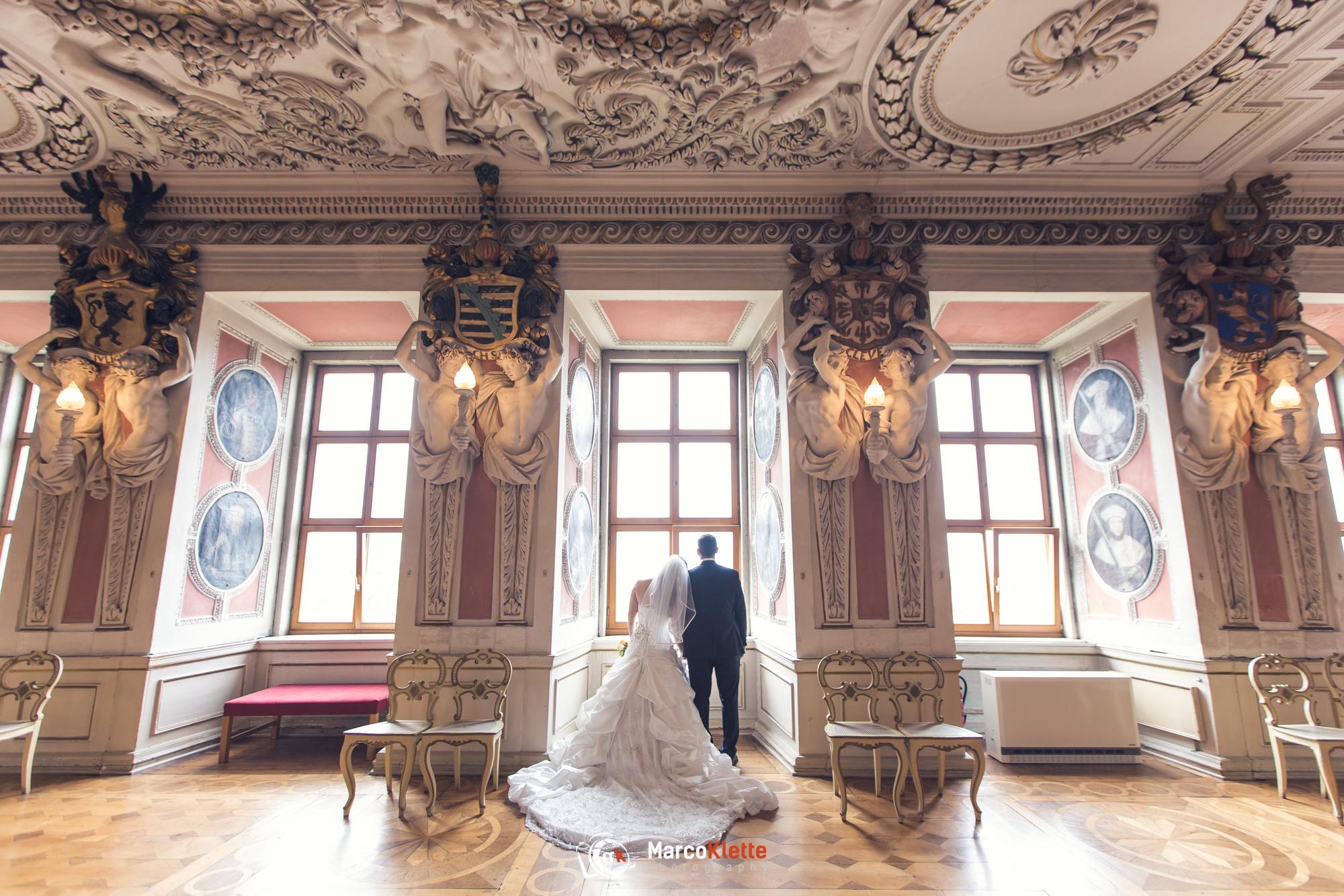 Hochzeitsfotos in Gotha im Schloss Friedenstein